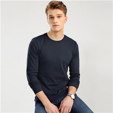 Solid long-sleeve tee