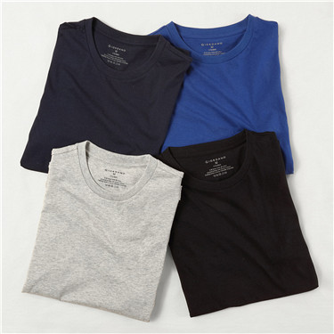 Solid crewneck basic tees (4-packs)