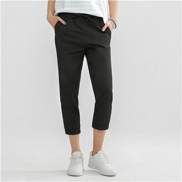 Solid cropped pants